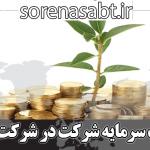 پرداخت سرمایه شرکت در شرکت سهامی